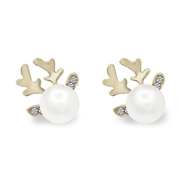 3/$20 Pearl Deer Antler Earrings